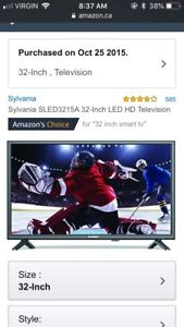 Android box and 32 inch flat screen tv