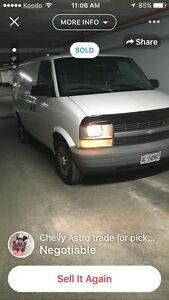 2005 Chevy Astro for trade