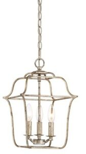 Quoizel Gallery 3-Light Cage Lantern Pendant Chandelier New