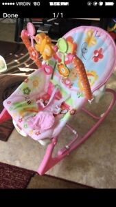 Pink infant /toddler rocker
