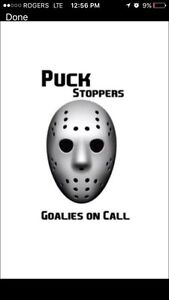 Puck stoppers-Edmonton's #1 hockey rent a goalie w/60+ goalies