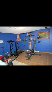 Treadmill and universal gym for sale.