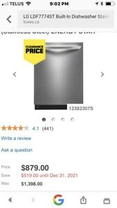 Lg Stainless Dishwasher