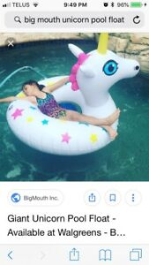 It's never too cold for a unicorn floatie!