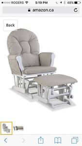 New Storkcraft Tuscany Custom Glider and Ottoman