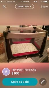 Play pen/travel crib
