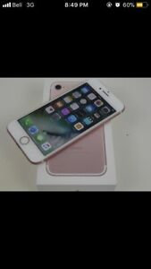 Rose gold iPhone 7 32 gb (trades or cash)