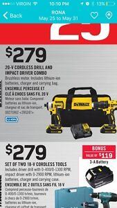 Dewault 20V Impact and drill combo