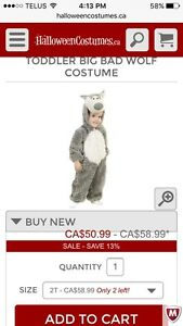 Brand New Toddler Wolf Costume