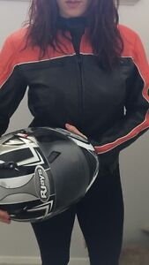Ladies genuine leather motorbike jacket Ascot Belmont Area Preview
