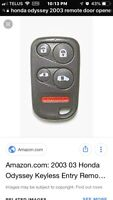 Lost key and remote car dr opener