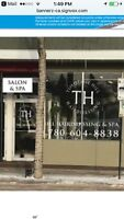 Salon chair and two treatment rooms avail for rent