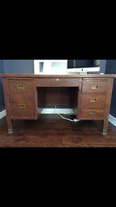 Antique principals desk