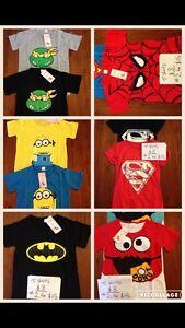 New shirts batman superman minion Safety Bay Rockingham Area Preview