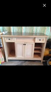 Handcrafted solid wood vanity