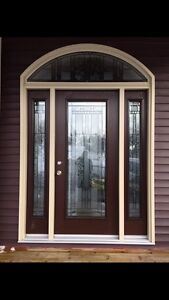 """Beautiful Entry Door 36"""" with sidelights and transom"""