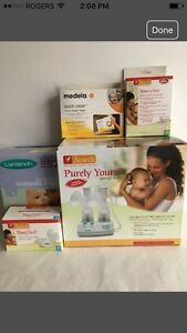 Ameda Double Electric Breast Pump and lots of extras!