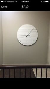 Brand New. Large Reclaimed wood wall clock