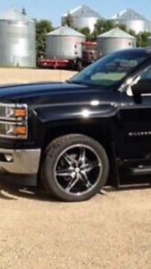 Chevy gmc dodge helo wheels and tires.