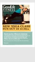Free Yoga class on Sunday Oct 28 at 1230pm