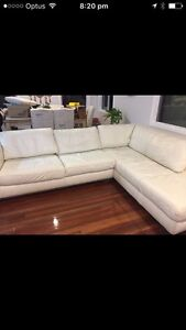 Very comfortable- white leather lounge, can help with delivery Holland Park West Brisbane South West Preview