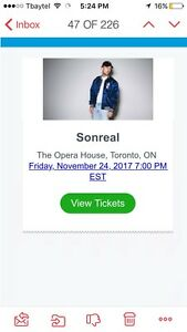 SONREAL VIP meet and greet tickets