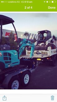 Bobcat tipper and mini excavator hire Woronora Heights Sutherland Area Preview