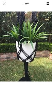 Large Black Macrame Pot Hanger Randwick Eastern Suburbs Preview