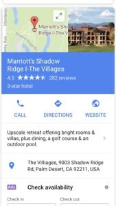 Marriott Shadow Ridge( Golf Course)