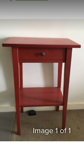 Red side table from ikea Surry Hills Inner Sydney Preview
