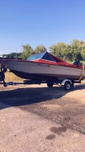 Nice little boat   50hp.   4cyl.