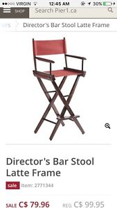Director style bar chairs (set of 3)
