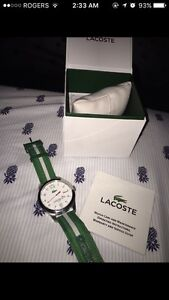 Beautiful Lacoste Green and white Watch! Great Condition!