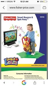 Fisher price bounce and spin pony