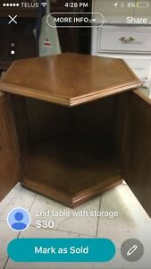 End table with storage  Edmonton Edmonton Area image 2