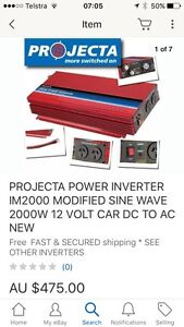 PROJECTA POWER INVERTER 2000W 12 VOLT CAR DC TO AC Berowra Hornsby Area Preview