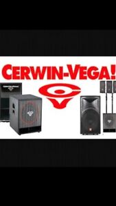 Wanted!! Cerwin Vega Speakers!! Any Condition!!