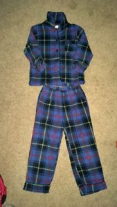 Boys clothes. PJ Set, hoodie and lined pants.