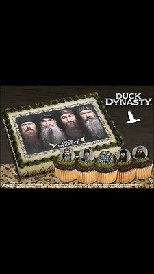 12 Duck Dynasty Cupcake Ring Toppers,New! Supplies,Birthday, Party
