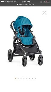 DOUBLE blue city select stroller