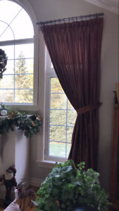 2 Sets of Lined Curtains Custom Made