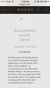 Pre-owned Gucci Ghost Pouch for sale London Ontario image 5