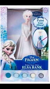 Disney Frozen- Elsa bank paint your own