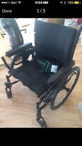 Quickie wheelchair with soft cushion