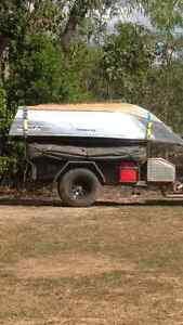 camper trailer 12ft tent with 375 horizon tinny 15hp yamaha Forrestfield Kalamunda Area Preview