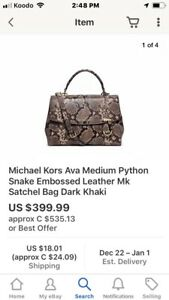Michael Kors Ava Medium Satchel