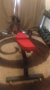 Home gym weight plates bench and more Knoxfield Knox Area Preview