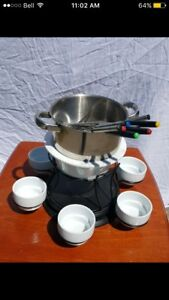 Fondue set with accessories