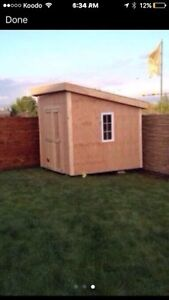 Garden sheds / baby barns built on site in 1 day