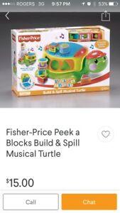 Fisher price turtle and blocke
